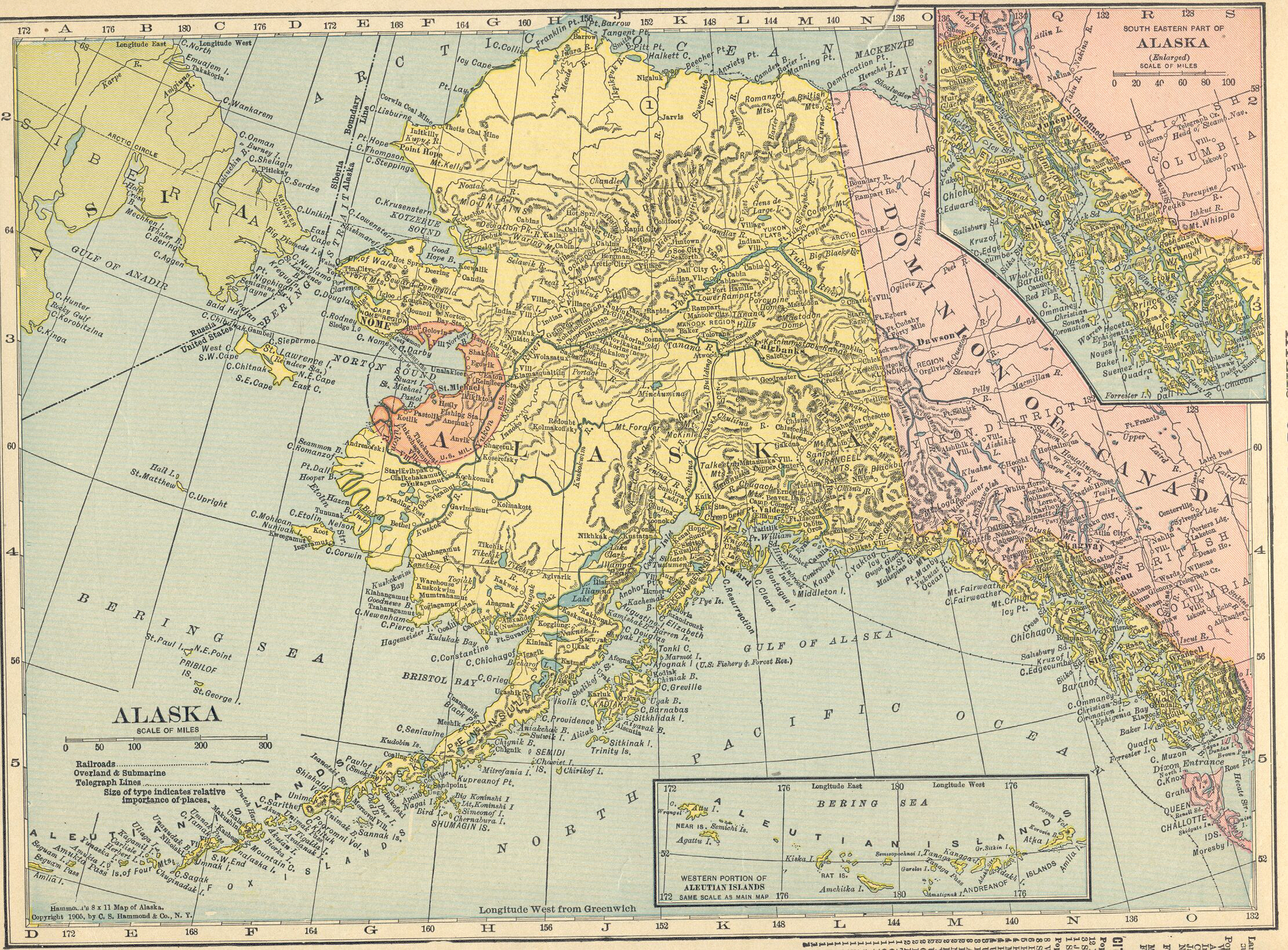 Point Thompson Alaska Map.Map Room At Alaskaweb